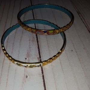 Set of 2 fashion bangle bracelets enamel